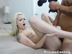 Skinny Blonde with Small Tits Elsa Jean POVd