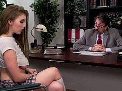 Big Tits at School -  Doggy with the Dean scene starring Lena Paul  Steve Holmes