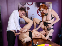 Busty Lena Paul & Lauren Phillips Lesbi scene - Big Tits at Work