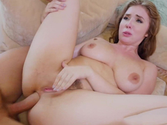 Sexy slut Lena Pauls melons jiggling around while she gets analized