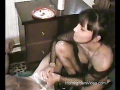 Natasha creams and licks Tony