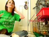 Awesome teen babe Jenna plays with her rats on cam
