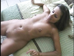 Young couple's home video with a hardcore sex
