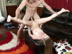 Awesome hot babe Sydney riding big dork till orgasm