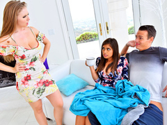 Share My BF – Stepsister Wife Threesome - Ella Knox & Lena Paul