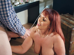 British mom Beau Diamond gets blasted with massive cumshot from Danny D