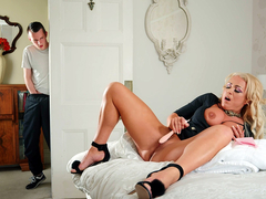 Turning On His Girlfriend's Mom with Rebecca Jane Smyth - Brazzers HD