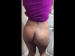 Petite Desi Housewife Shaking Her Big Busty Ass