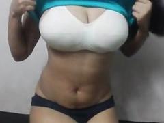 Busty Bhabhi Sexy Figure Big Boobs Fondled