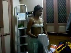 Dark Skin Desi Babe Filmed Her Nude Stripping Video