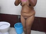 Telugu Amateur Bhabhi Taking Bath Filmed By Husband