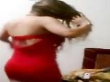 Egyptian slut hot red dress dance