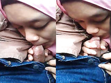 hijab girl sucking tiny cock