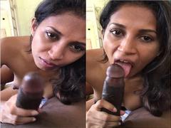 Exclusive – Cute Look Indian Girl Blowjob
