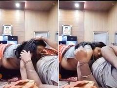 Today Exclusive- Hot look Desi Wife Sucking Hubby Dick in live Show