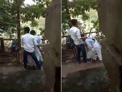 Today Exclusive- Desi Clg Lover OutDoor Romance and Sex Capture By hidden Cam