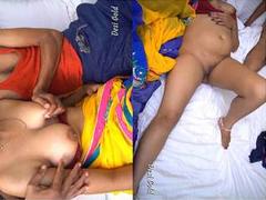 Today Exclusive- Sexy Desi Bhabhi Boob pressing and Hard Fucked By Dewar