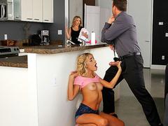 XXX insanity of Naomi Woods and her sexy stepmom Carmen Valentina