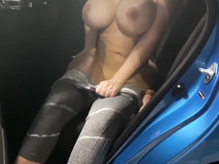 Blindfolded thick milf XXX wife makes me cum and eats it all