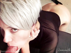 Short hair babe fucked by stepdad 4 times