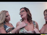 Nasty lesbian geeks enjoy tight juicy pussy licking