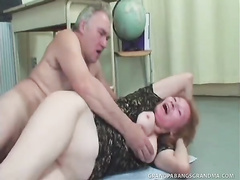 Hot domina teacher Sofya plays with mature student