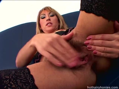 Awesome MILF Anastasia showing off her hairy twat