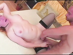 Mature bitch treated with big strong dicj and dildo