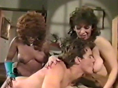 Mind blowing vintage sex play with shemale hottie