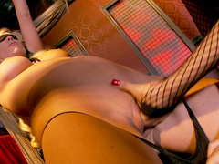 Horny blonde babe in bondage dreams of domination