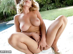 Lazy cutie shows off her ass and pussy for sex play