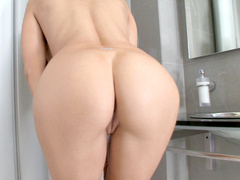 Busty babe Aletta Ocean shows off her luring holes