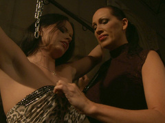 Nasty Mistress Mandy Bright explores her slave