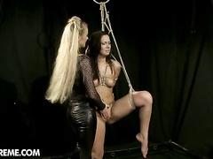 Horny femdom slut starves for total discipline